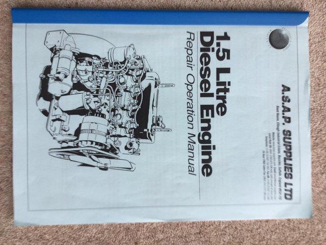 BMC 1.5ltr Diesel engine manual