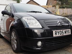 CITROEN C2 1.6 VTS [AC]  IN BLACK WITH ALLOY WHEELS. in