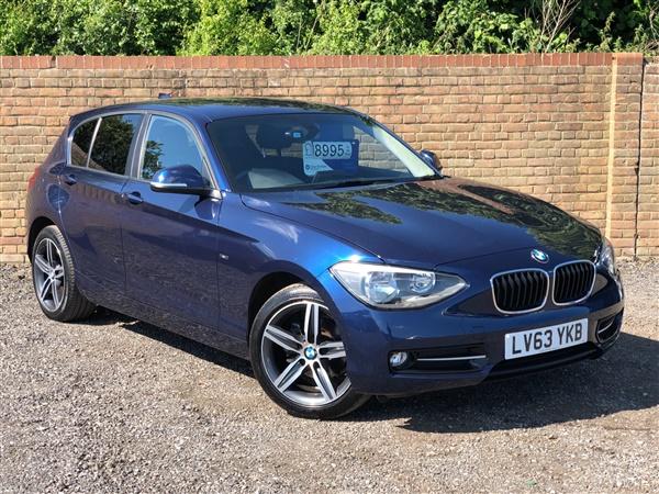 BMW 1 Series 116d Sport 5dr, £30 Tax, Sat Nav, Heated