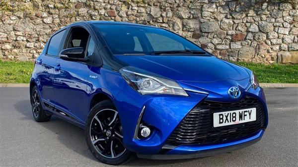 Toyota Yaris 1.5 Hybrid Blue Bi-tone 5dr CVT Auto