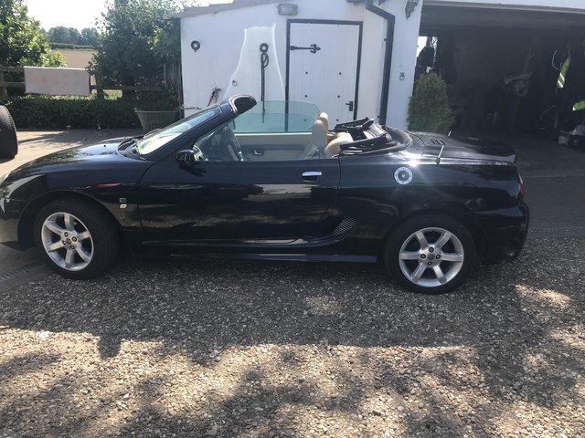 MG TF soft top sports car