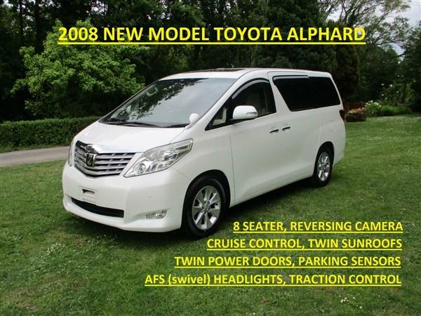 Toyota Alphard 3.5 new model, Twin Power Doors Twin Sunroofs